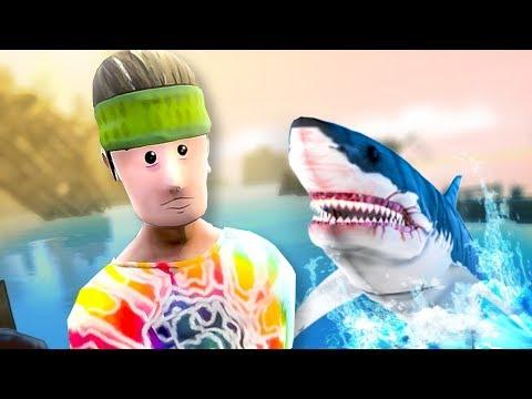 MAN GETS TAKEN BY SHARK! - Floaty Flatmates: Sam And Dan VR - HTC Vive Pro Gameplay