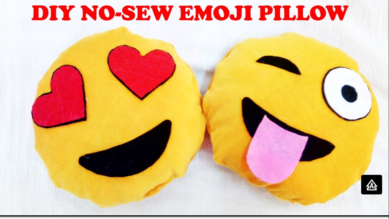 Diy Emoji Pillows No Sew: DIY Emoji Pillows   No Sew   YouTube,
