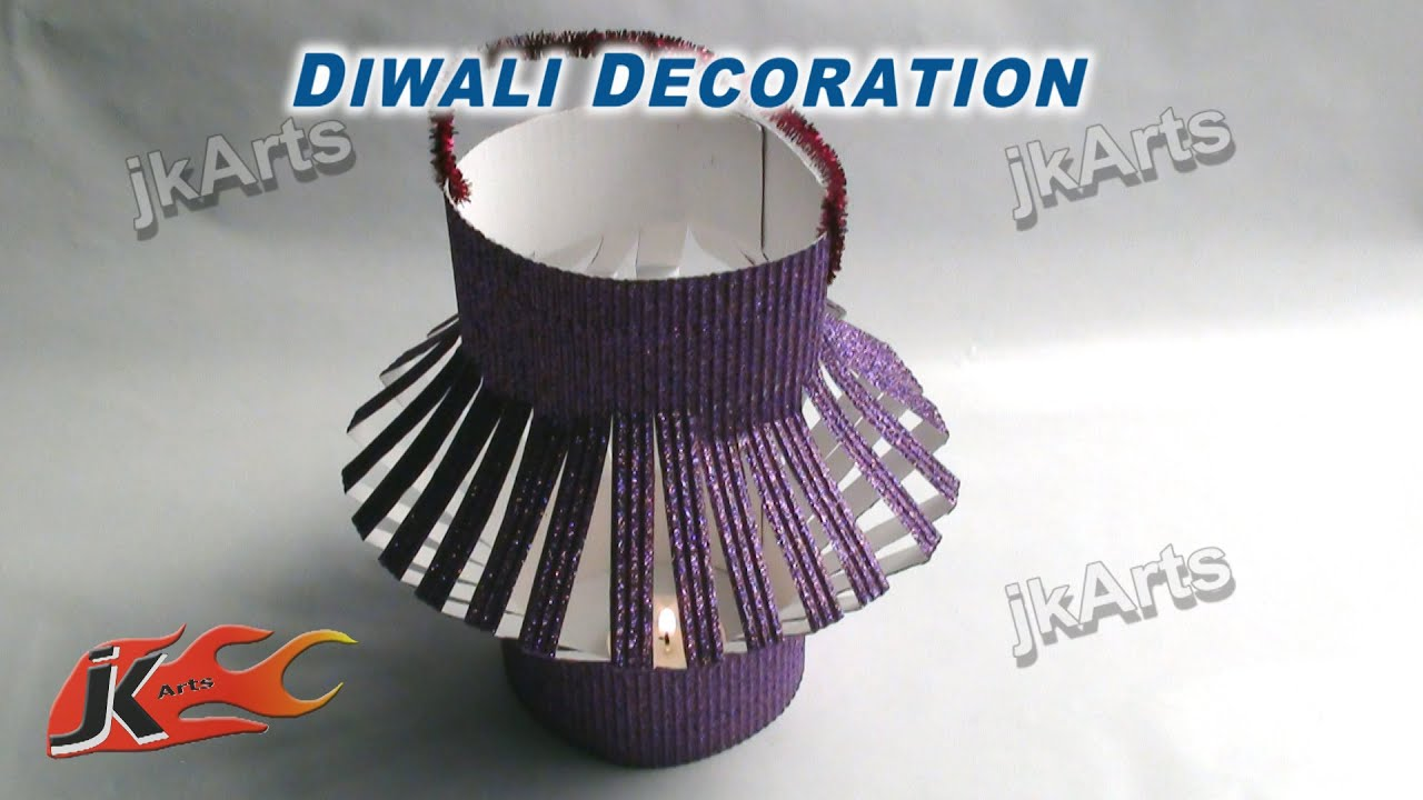 Diy table top lantern diwali decoration jk arts 350 youtube Home made decoration items for diwali