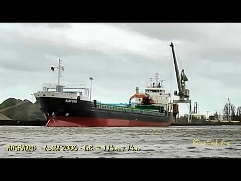 coaster AASFJORD ZDPA5 IMO 9321392 Emden cargo seaship merchant vessel KüMo Frachtschiff