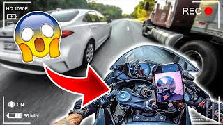GOING 160 MPH THROUGH CRAZY TRAFFIC ON MY ZX6R ! | BRAAP VLOGS