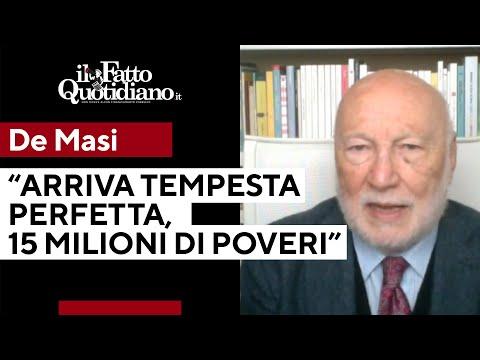 """De Masi: """"In arrivo la tempesta perfetta che porterà a 15 milioni i poveri nel nostro paese"""""""