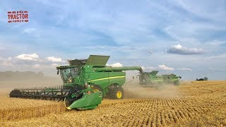 2019 Winter Wheat Harvest with Four John Deere Combines