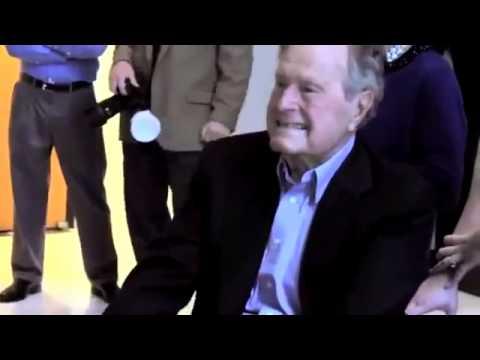Flash Mob. Студенты школы Буша удивили президента. США, Техас.