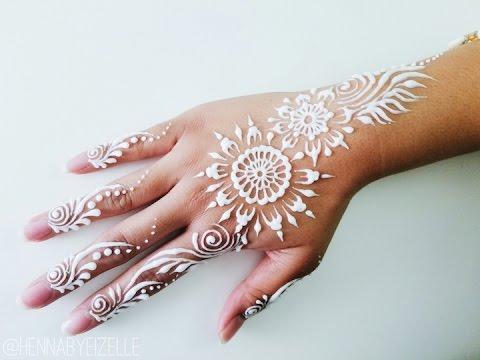 Freehand Henna (Mehndi) Design 5: How to Draw a Pretty Henna Strip w/ a Lotion Cone