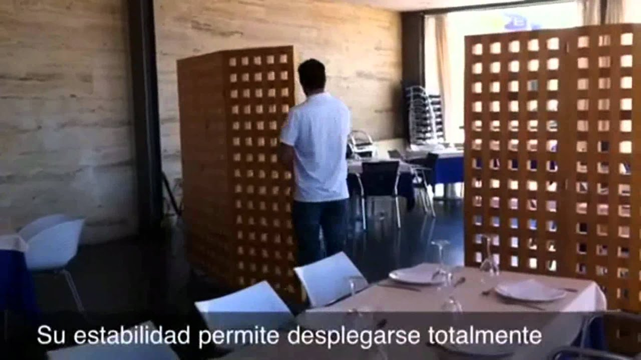 Biombos y mamparas para hosteleriamp4  YouTube