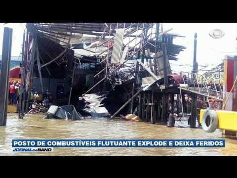 Posto De Combustíveis Flutuante Explode No Pará