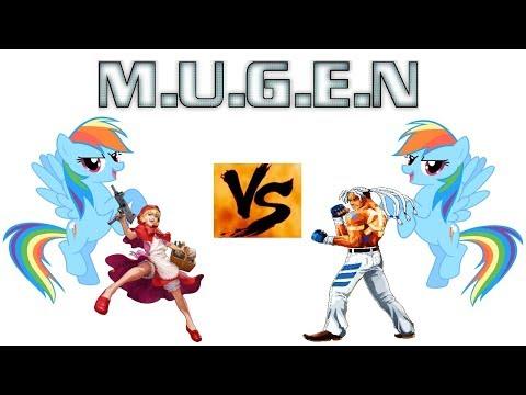 MBTG MUGEN: Rainbow Dash (new) And Bulleta Vs. Rainbow Dash (old) And Rick Strowd (AI Match)