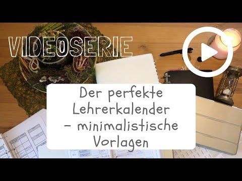 Videoserie #4: Lehrerkalender - minimalistische Vorlagen
