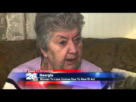 WOMAN TO LOSE LICENSE DUE TO REAL ID ACT