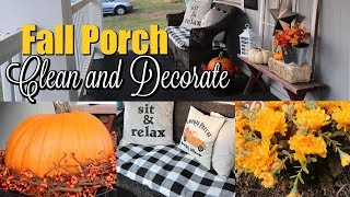 FALL PORCH CLEAN AND DECORATE / FALL 2019 PORCH TOUR