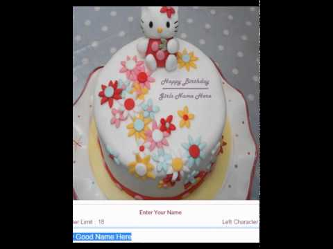 How To Create My Name Write Birthday Cakes Pictures YouTube