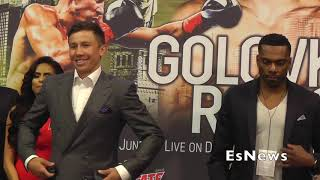 [Must See] GGG Is Back Face Off Vs Rolls First Time Face To Face EsNews Boxing