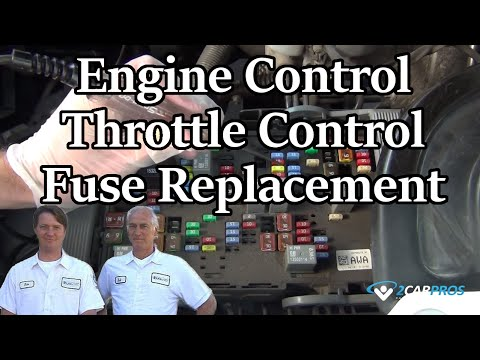 Engine Control Throttle Control Fuse Replacement - YouTube