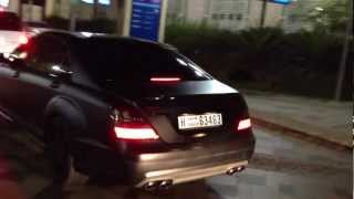 matt black S63 AMG Mercedes-Benz - JBR The Walk Dubai Marina