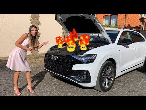 Audi Q8 is broken down - Fireman Dima on power wheels to the rescue
