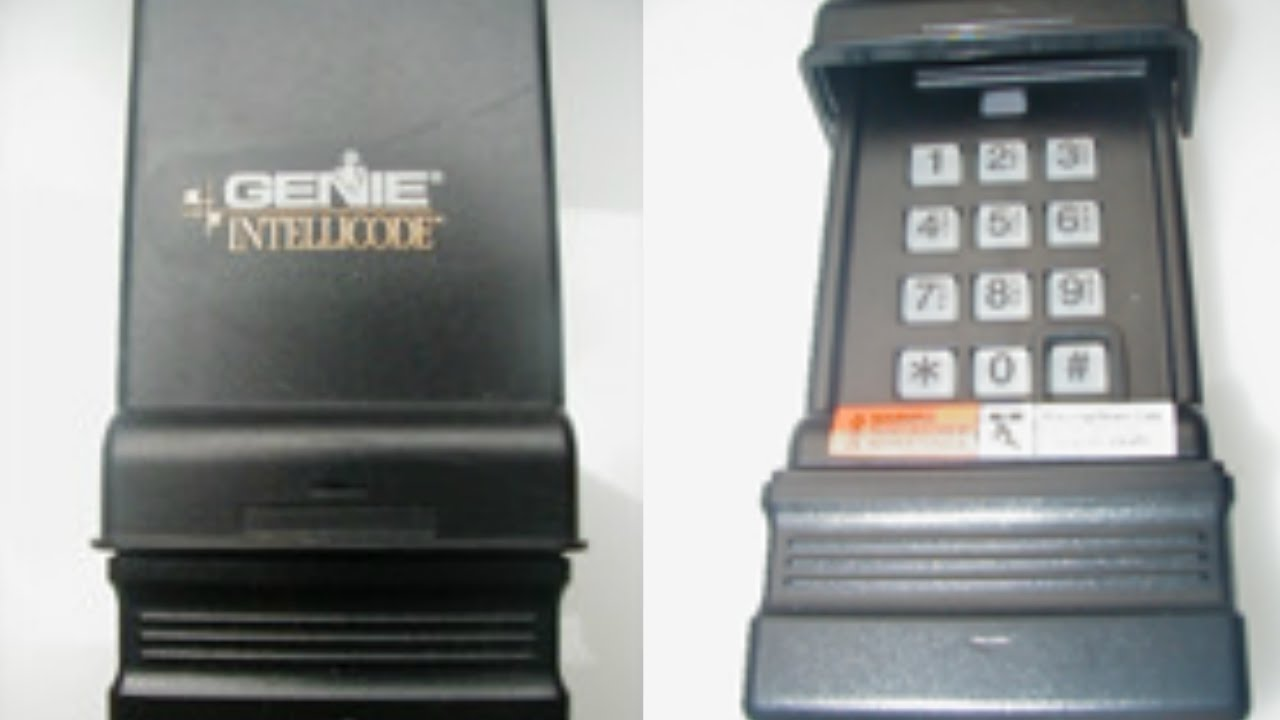 Genie Intellicode Programming >> Reset Program Genie Wireless Keypad Ic Black Model Youtube