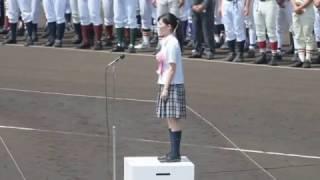 第98回全国高校野球選手権栃木大会 大会歌「栄冠は君に輝く」独唱