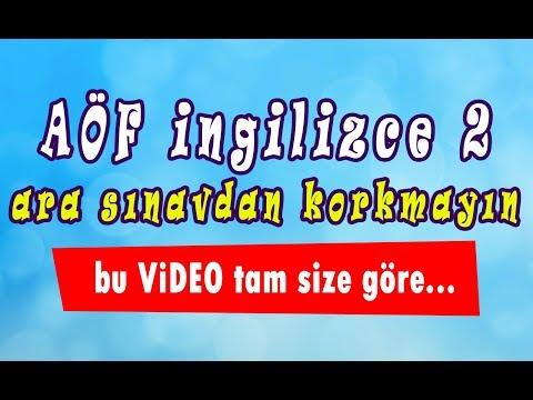 AÖF İngilizce-2 hızlı konu anlatım videosu [Vize-1]  www.akademiaof.com