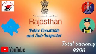 Rajasthan police constable and Sub-Inspector 2019 notification out