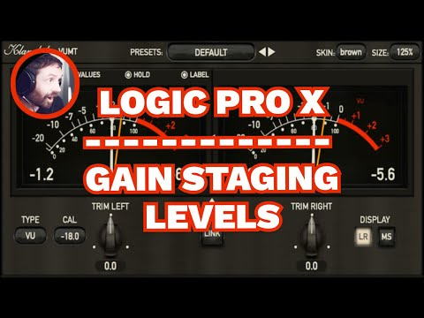Gain Staging Input Levels Logic Pro X