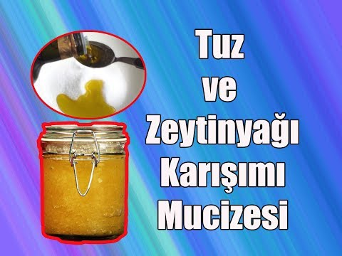 Tuz Zeytinyağı Karışımı / Tuz Ve Zeytinyağı Karışımı Neye Yarar?