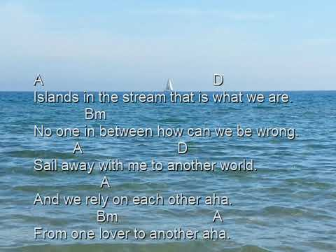 Islands in the stream (Cover B-dur, lyrics, chords)