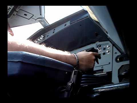 Landing A320 Hard Crosswind ( Sidestick View )