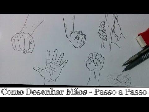 Como Desenhar Maos Passo A Passo How To Draw Hands Youtube