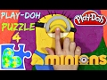 MINIONS PLAY-DOH PUZZLE GAME FOR KIDS! Rompecabezas de Minions