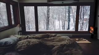 Cozy Cabin Winter with Blizzard Sound   Deep Relaxation and Sleep Ambience