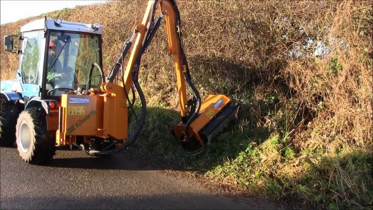 Bs82 Side Arm Flail Mower Wmv Youtube