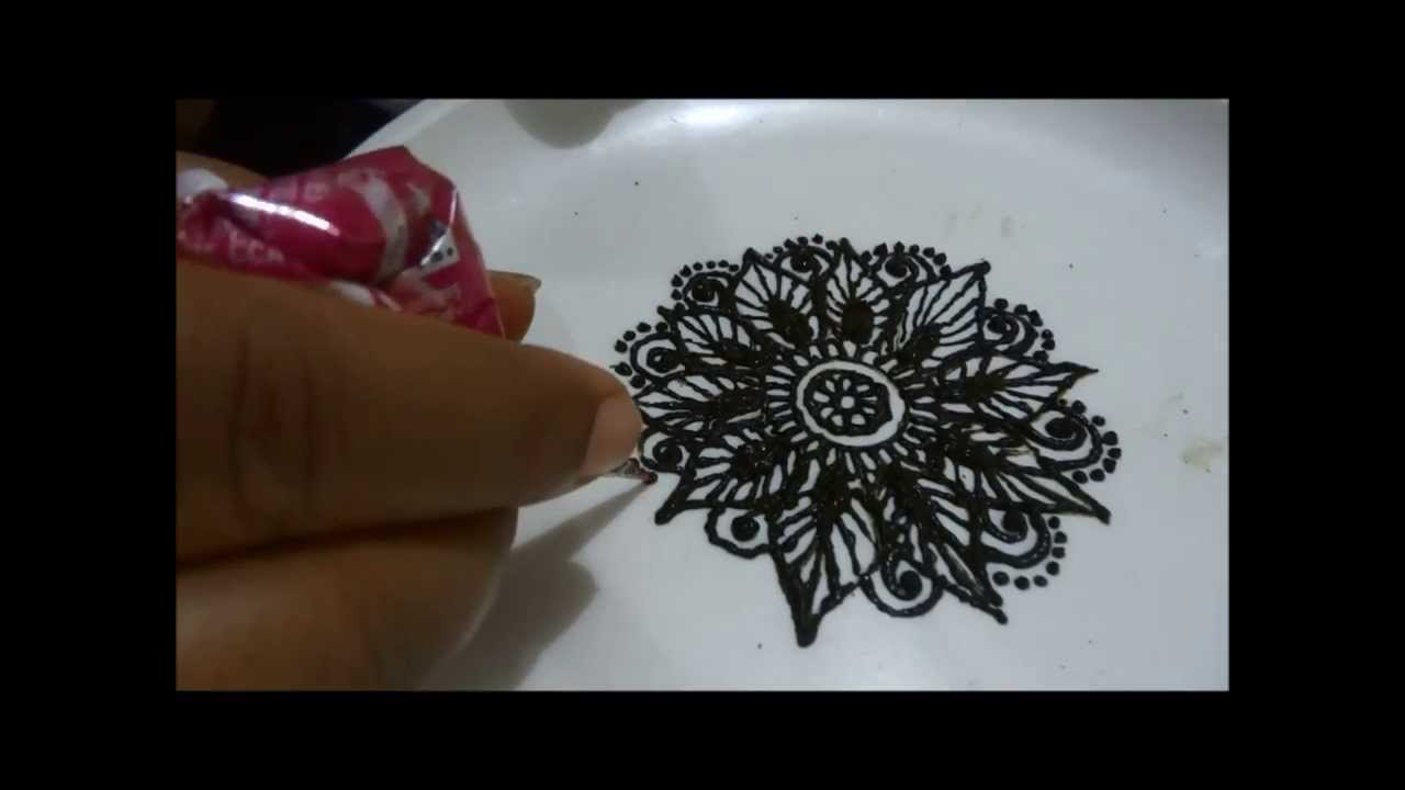 Mehndi Flower Designs Step By Step : How to make henna mehendi flower design tutorial step by