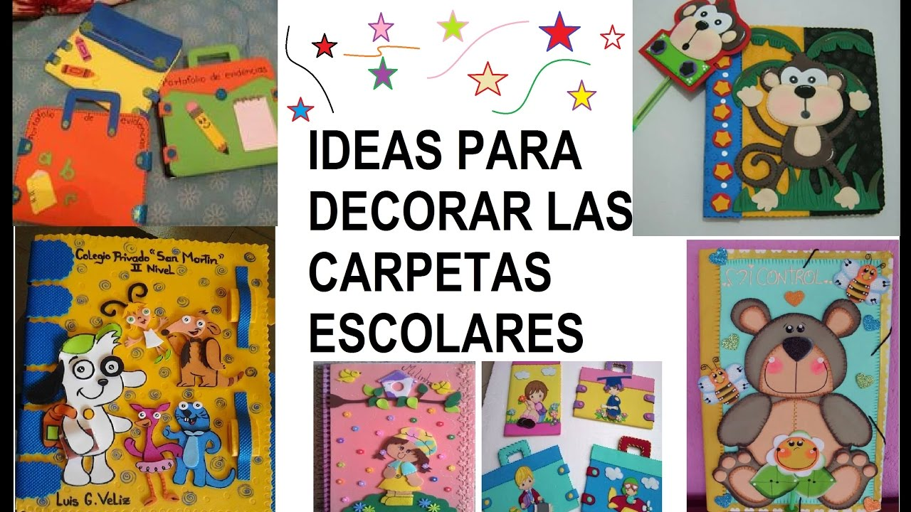 Como Decorar Una Carpeta Para Niños Decoraciones De Carpetas Escolares 100 Ideas