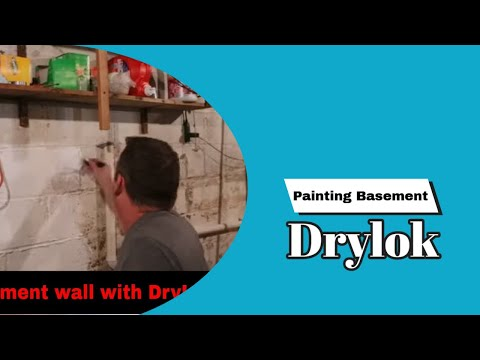 Painting Basement wall with DryLok Paint