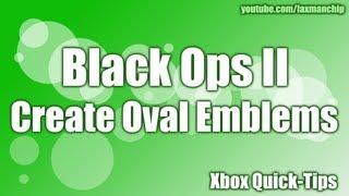 Oval amblemi oluşturma Black Ops II -