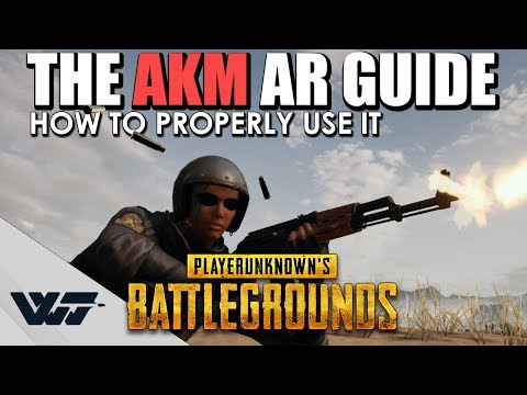 GUIDE: How to PROPERLY use the AKM Assault Rifle (It's not that bad) in PUBG