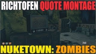 Richtofen Quotes Montage From Nuketown Zombies (HD)