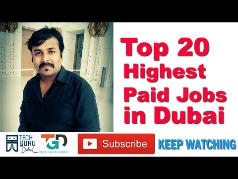 TOP 20 Highest paid jobs in DUBAI | HINDI URDU | DUBAI JOBS | PART 40