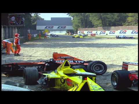 F1 2000 Monza Start Crashes - Alternate and Reverse Angles