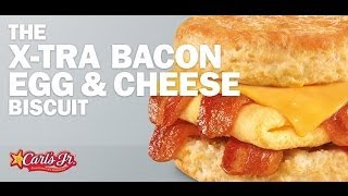 Carbs - Carl's Jr X-tra Bacon Egg & Cheese Biscuit