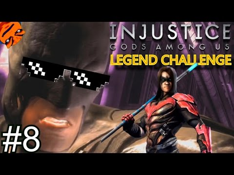 DAMIAN WAYNE KILLED DICK GRAYSON!!! - Injustice: Gods Among Us - LEGEND CHALLENGE #8