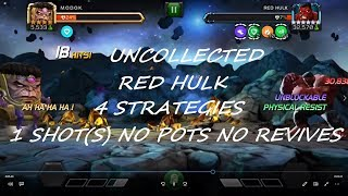 MCOC Uncollected Red Hulk This Man This Monster 1 SHOTs NO POTS NO REVIVES