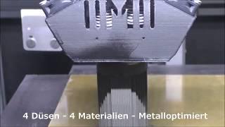 Metalldruck mit Stützmaterial - M4 Metal von Multec