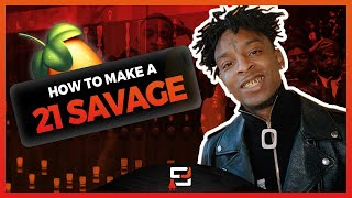 HOW TO MAKE A 21 SAVAGE TYPE BEAT ON FL STUDIO 20 | MAKING A TRAP BEAT USING DIRTY MONEY (MIDI KIT)