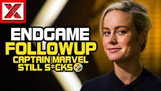 Avengers:Endgame Followup To P*ss Even More Ppl Off & Brie Larson's Captain Marvel Still S*cks XD