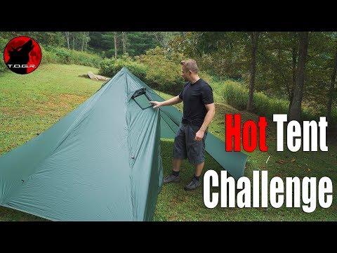Budget Hot Tent Challenge - Black Orca Smokey Hut - Part 1