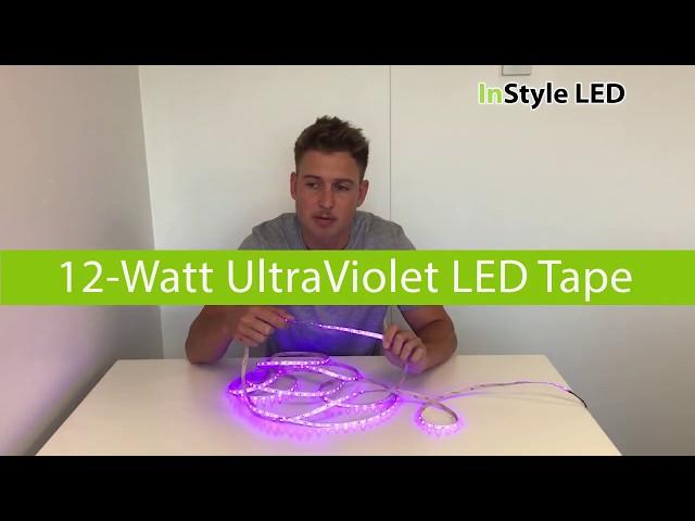 Ultra Violet LED Tape Lights  - 12w UV LED tape