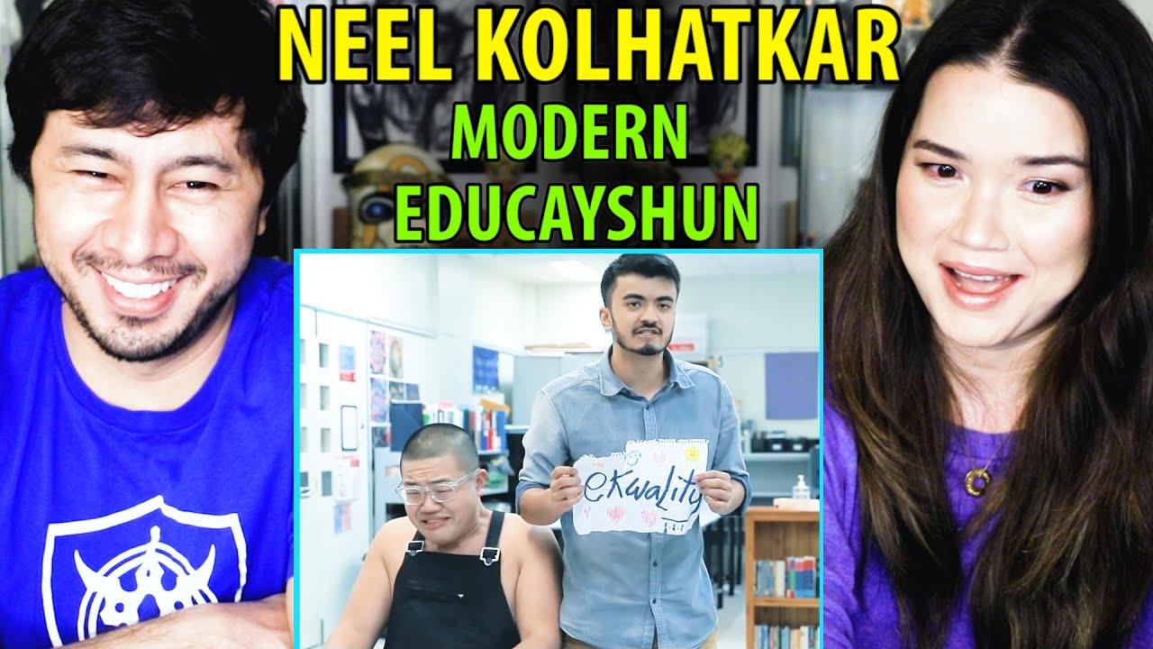 MODERN EDUCAYSHUN | Neel Kolhatkar | Short Film Reaction | Jaby Koay & Achara