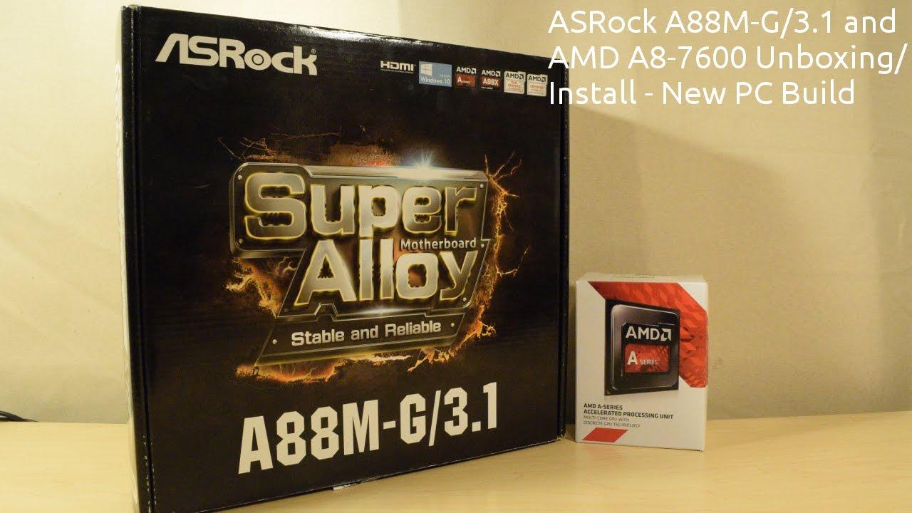 ASRock A88M-G/3.1 Realtek LAN Driver FREE